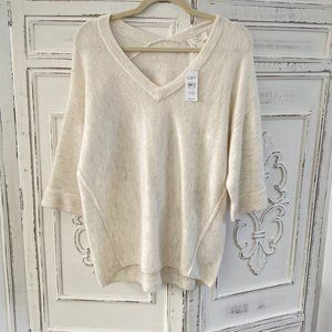 Loft Outlet Longe Cream Sweater NWT